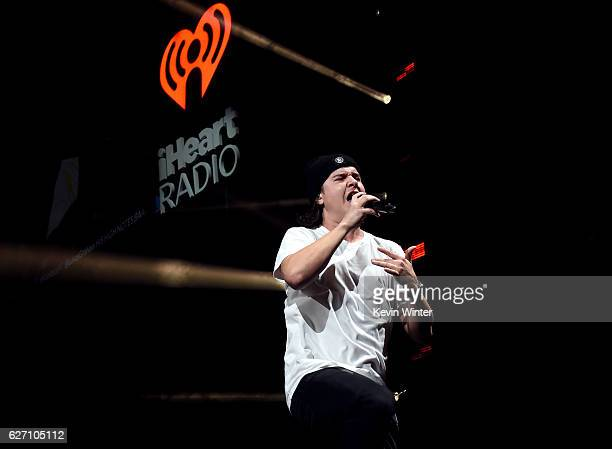 Musician Lukas Graham performs onstage at WiLD 949's FM's Jingle Ball 2016 presented by Capital One at SAP Center on December 1 2016 in San Jose...