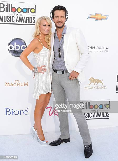 Musician Luke Bryan and wife Caroline Bryan arrive at the 2012 Billboard Music Awards held at the MGM Grand Garden Arena on May 20 2012 in Las Vegas...