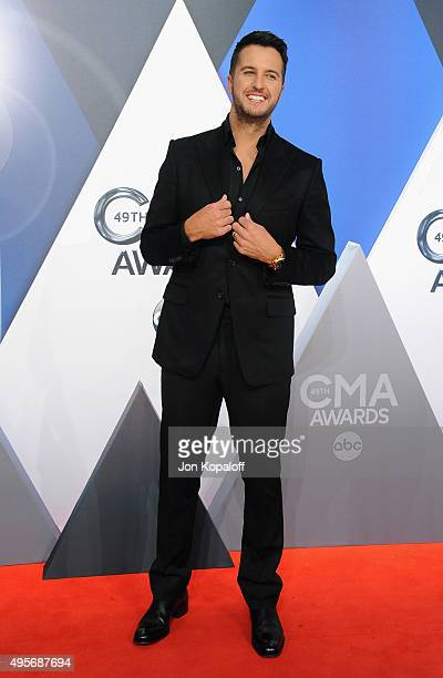 Musician Luke Bryan attends the 49th annual CMA Awards at the Bridgestone Arena on November 4 2015 in Nashville Tennessee