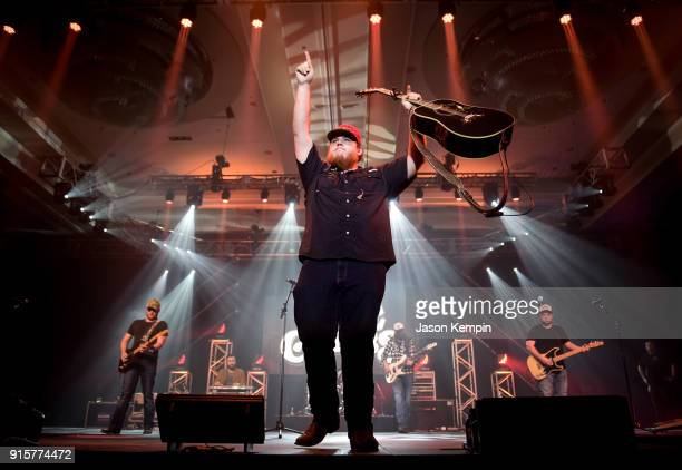 Musician Luke Combs performs during the New Faces of Country Music Show on February 7 2018 in Nashville Tennessee