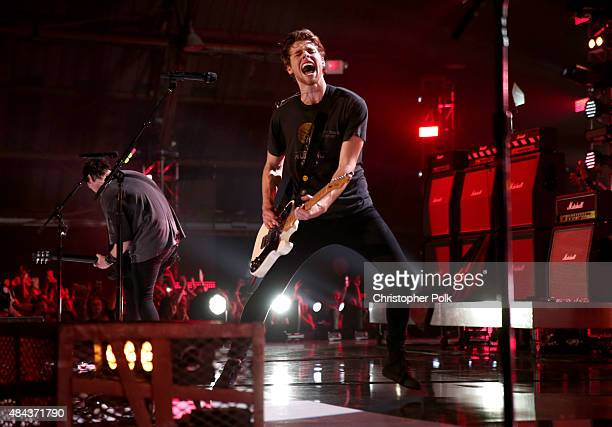Musician Luke Hemmings of 5 Seconds Of Summer performs onstage during Vevo Certified Live at Barker Hangar on August 17 2015 in Santa Monica...