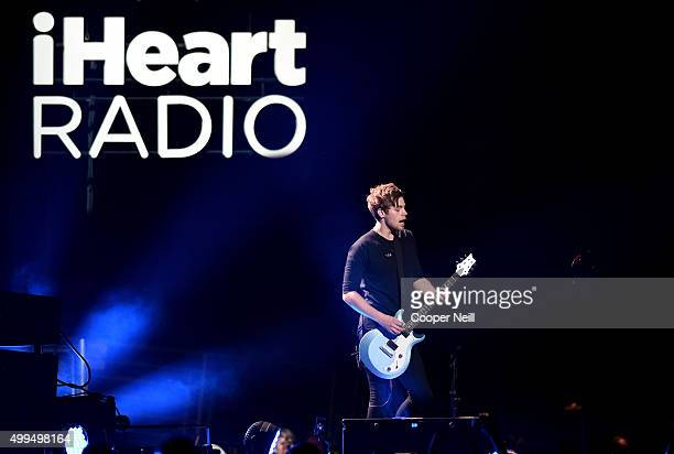 Musician Luke Hemmings of musical group 5 Seconds of Summer performs onstage during 106.1 KISS FM's Jingle Ball 2015 presented by Capital One at...