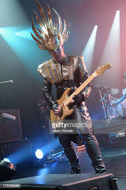 Musician Luke Steele performs during Bud Light Music First 50/50/1 featuring Empire of the Sun at Austin City Limits Live at the Moody Theater on...