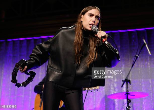 Musician Lykke Li performs at The New Museum Annual Spring Gala at Cipriani Wall Street on April 1 2014 in New York City
