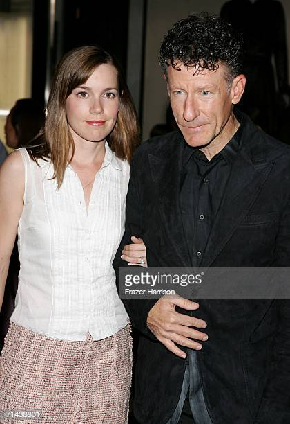 Musician Lyle Lovett and April Kimble arrive at the opening of Waist Down Skirts By Miuccia Prada held at Prada on July 13 2006 in Beverly Hills...