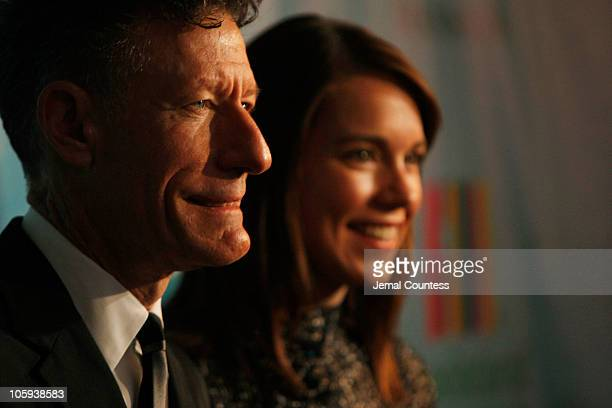 Musician Lyle Lovett and April Kimble attend the celebration of Paul Newman's Hole in the Wall Camps at Avery Fisher Hall Lincoln Center on October...