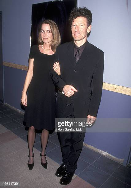 Musician Lyle Lovett and girlfriend April Kimble attend 'The Opposite of Sex' New York City Premiere on May 5 1998 at Sony Village East Cinemas in...
