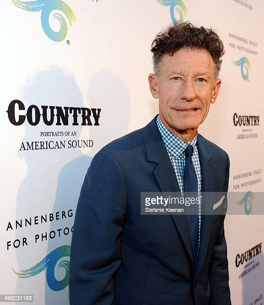 Musician Lyle Lovett attends the Annenberg Space for Photography Opening Celebration for Country Portraits of an American Sound at the Annenberg...