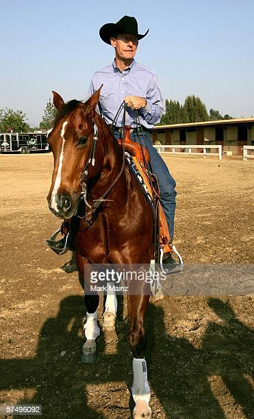 Musician Lyle Lovett attends the 'Hollywood Charity Horse Show' at the Los Angeles Equestrian Center Equidome on April 29 2006 in Los Angeles...