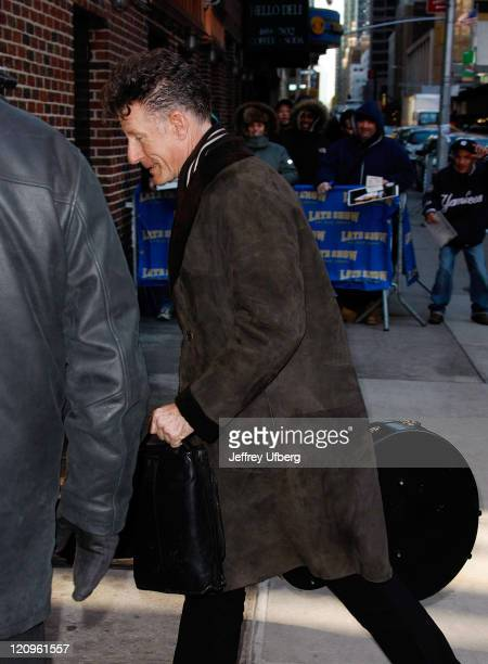 Musician Lyle Lovett visits Late Show with David Letterman at the Ed Sullivan Theater on February 4 2009 in New York City