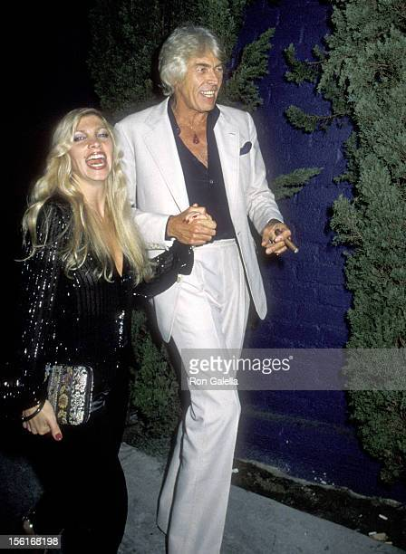 Musician Lynsey de Paul and Actor James Coburn attend the Jacqueline Bissett's 35th Birthday Party on September 13 1979 at Flipper's Roller Boogie...