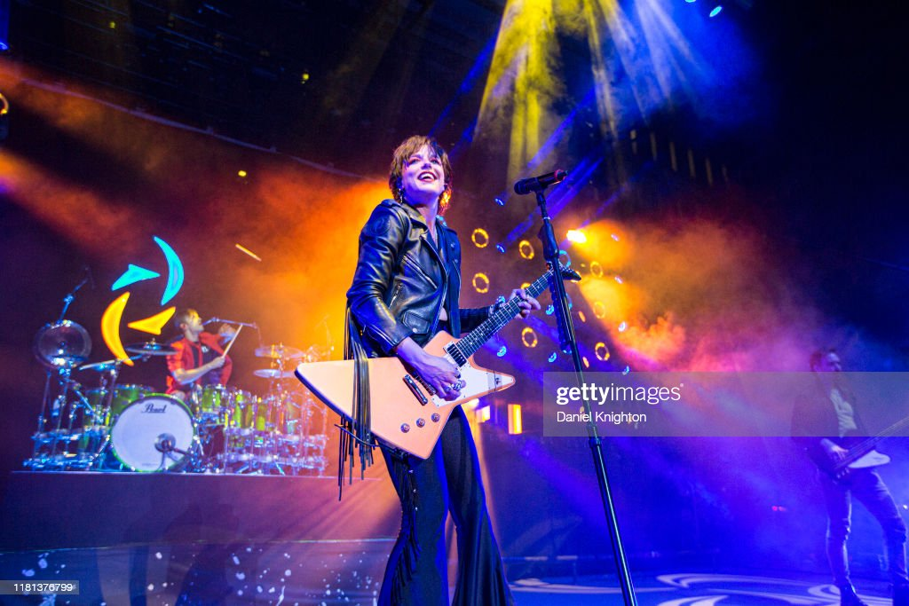 Godsmack With Halestorm Perform At The Cal Coast Credit Union Open Air Theatre : News Photo