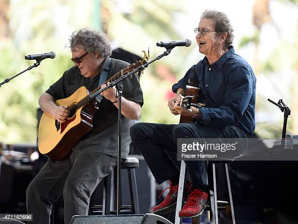 Musician Mac Davis perorms onstage during day two of 2015 Stagecoach California's Country Music Festival at The Empire Polo Club on April 25 2015 in...