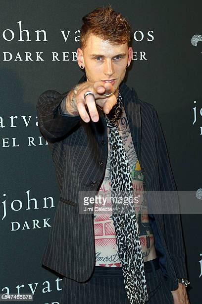 Musician Machine Gun Kelly attends John Varvatos Spring/Summer 2017 Fashion Show After Party Celebrating the Launch of Dark Rebel Rider at John...