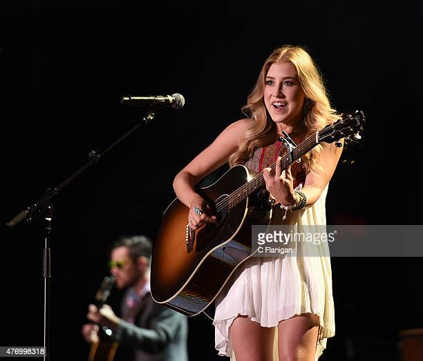 Musician Madison Kay Marlow of Maddie and Tae perform at LP Field during the 2015 CMA Festival on June 12, 2015 in Nashville, Tennessee.