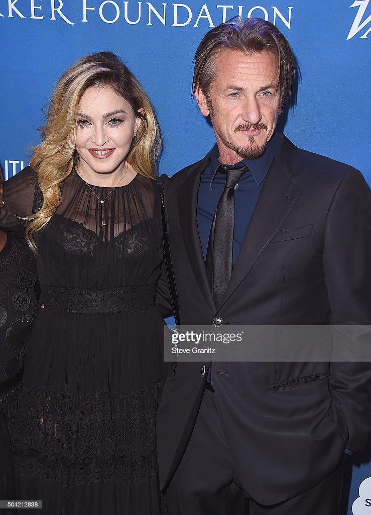 Musician Madonna (L) and host Sean Penn attend the 5th Annual Sean Penn & Friends HELP HAITI HOME Gala Benefiting J/P Haitian Relief Organization at Montage Hotel on January 9, 2016 in Beverly Hills, California.