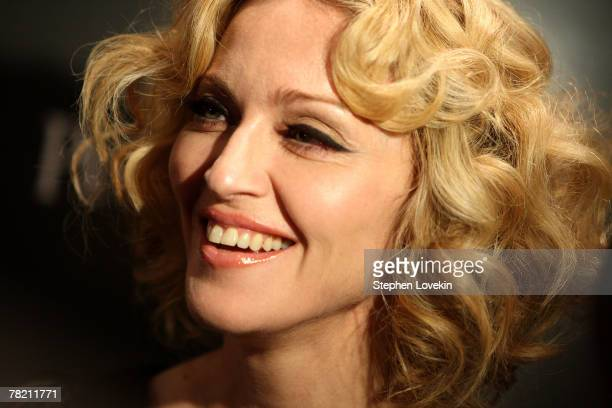 Musician Madonna attends a screening of Revolver hosted by the Cinema Society and Piaget at the Tribeca Grand Screening Room on December 2 2007 in...