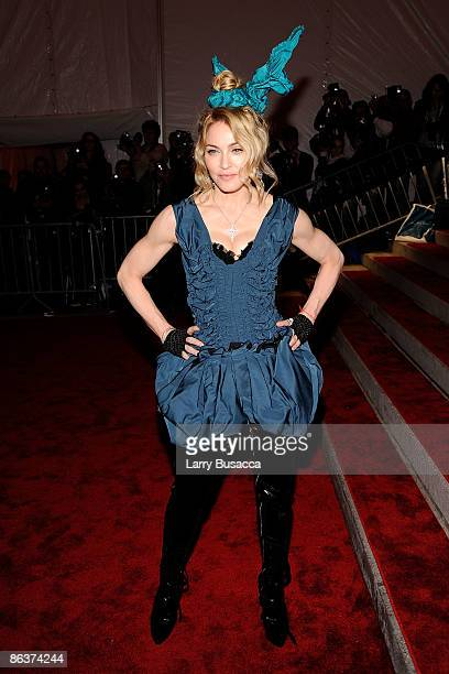 Musician Madonna attends The Model as Muse Embodying Fashion Costume Institute Gala at The Metropolitan Museum of Art on May 4 2009 in New York City