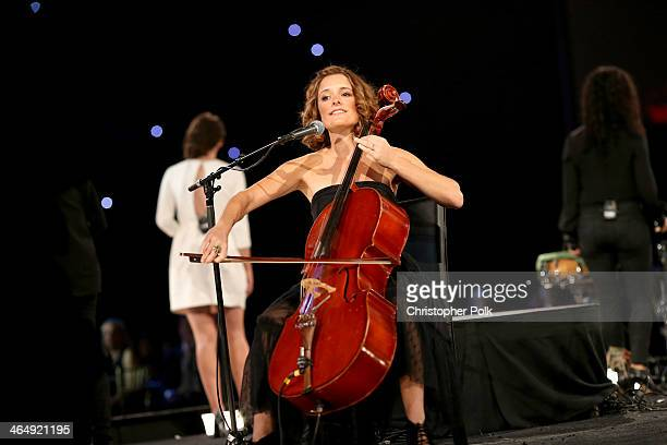Musician Mai Bloomfield performs onstage at 2014 MusiCares Person Of The Year Honoring Carole King at Los Angeles Convention Center on January 24...