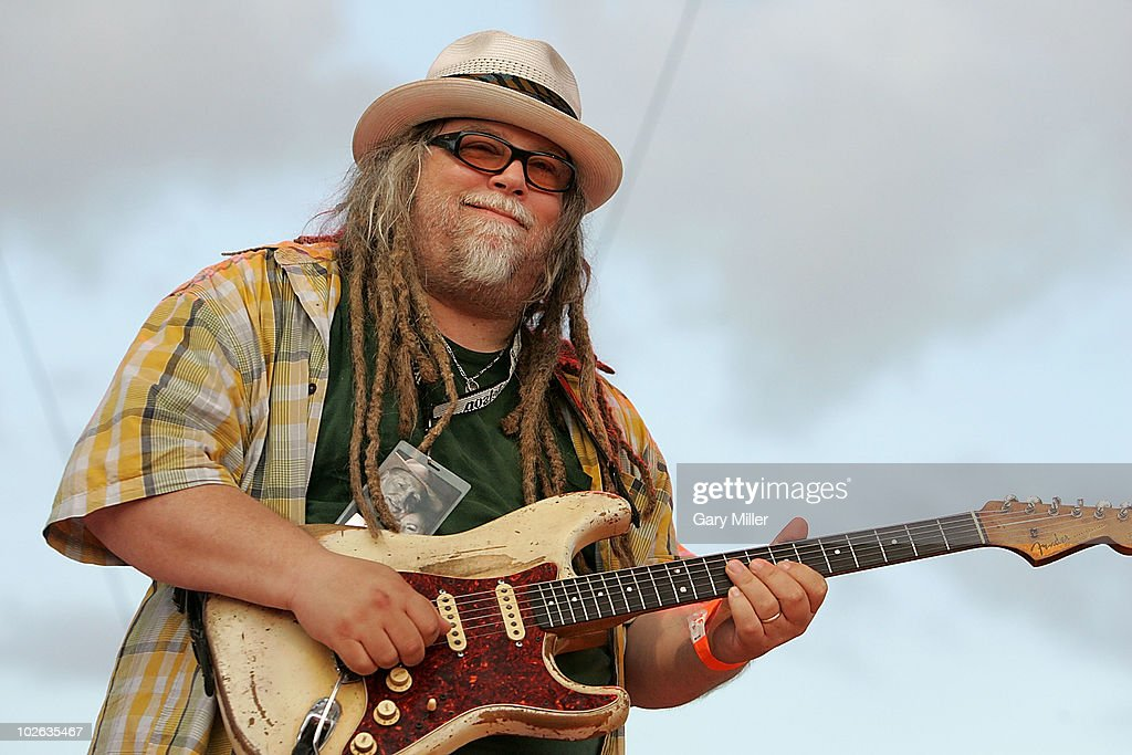 Musician Malcolm 'Papa Mali' Wellbourne performs to a sold out crowd during Willie Nelson's 4th of July Picnic at The Backyard on July 4, 2010 in Austin, Texas.
