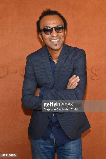 Musician Manu Katche attends the 2018 French Open Day Twelve at Roland Garros on June 7 2018 in Paris France