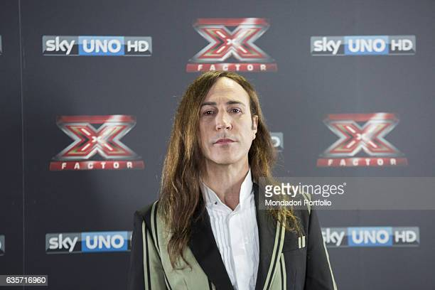 Musician Manuel Agnelli during the press conference of presentation of the first live episode of the talent show X Factor Milan Italy 26th October...