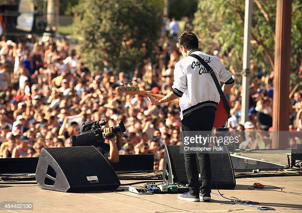 Musician Manuel Quintero of Capital Cities performs on the Marilyn Stage during day 1 of the 2014 Budweiser Made in America Festival at Los Angeles...