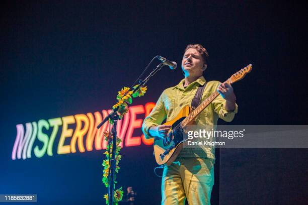 Musician Marc Campbell of Misterwives performs on stage at Pechanga Arena on November 05, 2019 in San Diego, California.