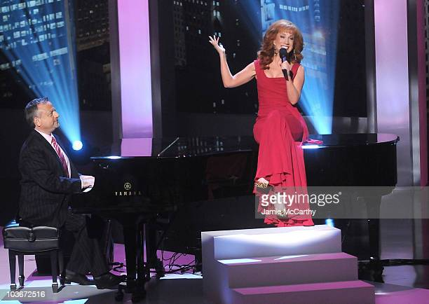 Musician Marc Shaiman and host Kathy Griffin on stage during Bravo's 1st AList Awards at the Hammerstein Ballroom on June 4 2008 in New York City