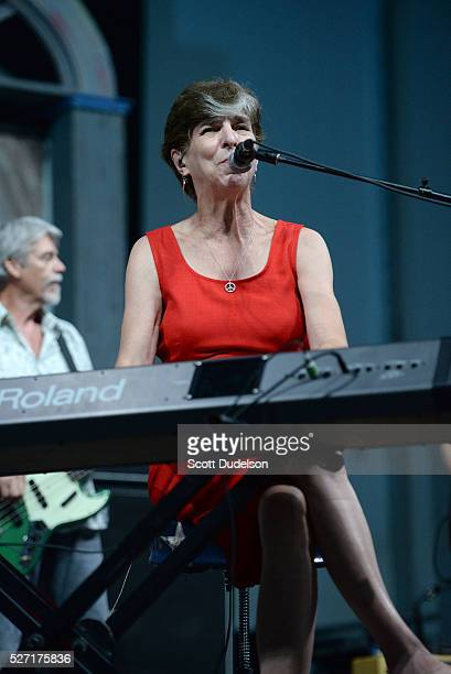 Musician Marcia Ball performs onstage during New Orleans Jazz Heritage Festival at Fair Grounds Race Course on May 1 2016 in New Orleans Louisiana