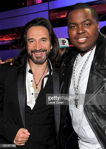 Musician Marco Antonio Solis and Sean Kingston pose at the 12th Annual Latin GRAMMY Awards held at the Mandalay Bay Events Center on November 10,...