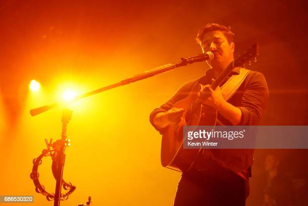 Musician Marcus Mumford of the band Mumford Sons performs at the Hangout Stage during 2017 Hangout Music Festival on May 21 2017 in Gulf Shores...