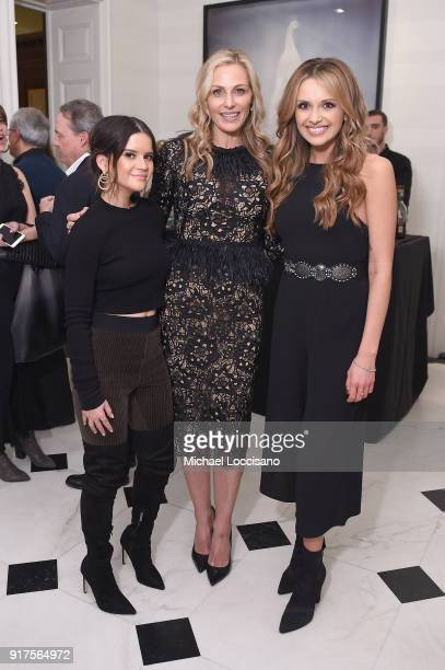 Musician Maren Morris host Jamie Tisch and musician Carly Pearce attend the Country Music Hall Of Fame And Museum Reception With Carly Pearce For All...