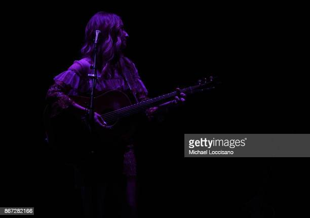 Musician Margo Price performs during the Soul2Soul Tour at Barclays Center of Brooklyn on October 27 2017 in New York City