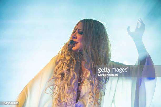 Musician Maria Brink of In This Moment performs on stage at Harrah's Resort Southern California on August 24 2018 in Valley Center California