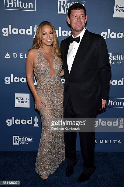 Musician Mariah Carey and James Packer attend the 27th Annual GLAAD Media Awards in New York on May 14 2016 in New York City