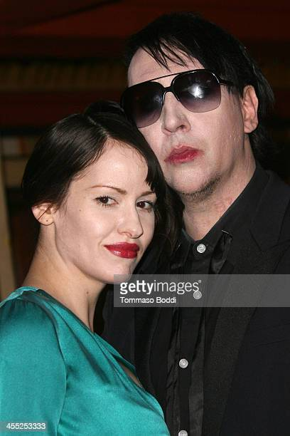 Musician Marilyn Manson and photographer Lindsay Usich attend the GenArt Screening Series presents Wrong Cops held at the Vista Theatre on December...