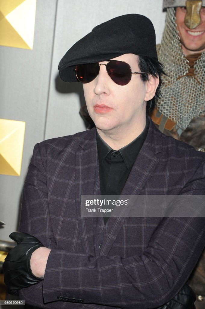Musician Marilyn Manson arrives at the premiere of Warner Bros. Pictures' 'King Arthur: Legend Of The Sword' at TCL Chinese Theatre on May 8, 2017 in Hollywood, California.