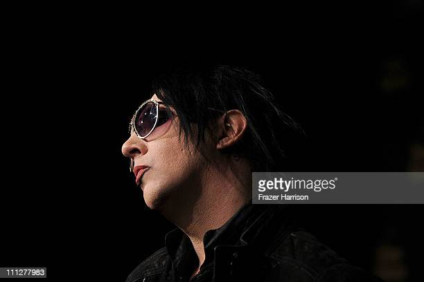 Musician Marilyn Manson arrives at the Vivienne Westwood store opening party on Melrose March 30 2011 in Los Angeles California