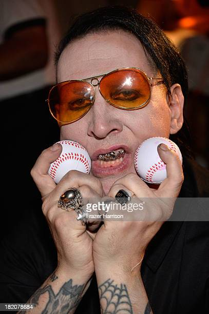 Musician Marilyn Manson attends the Premiere Of HBO's Final Season Of 'Eastbound And Down'after Party at the Avalon on September 27 2013 in Hollywood...