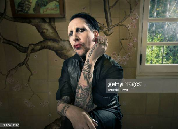 Musician Marilyn Manson for New York Times on December 11 2014 in West Hollywood California PUBLISHED IMAGE