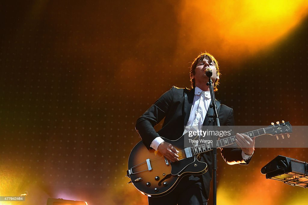 Musician Mark Foster of Foster the People performs onstage during day 3 of the Firefly Music Festival on June 20, 2015 in Dover, Delaware.