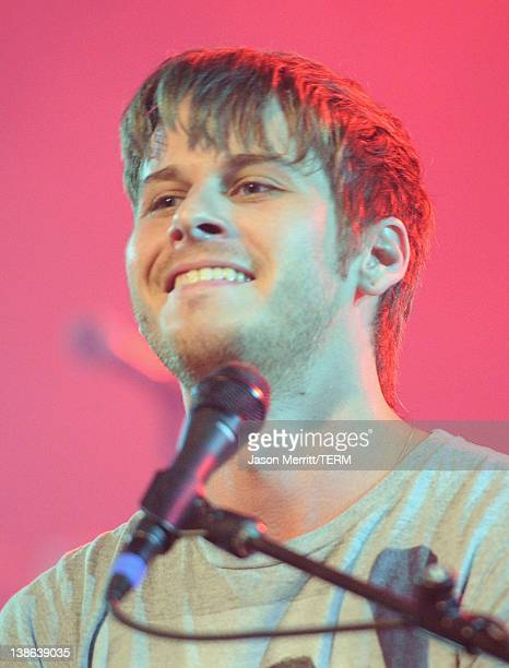 Musician Mark Foster of Foster the People performs onstage during Tesla Worldwide Debut of Model X on February 9 2012 in Los Angeles California