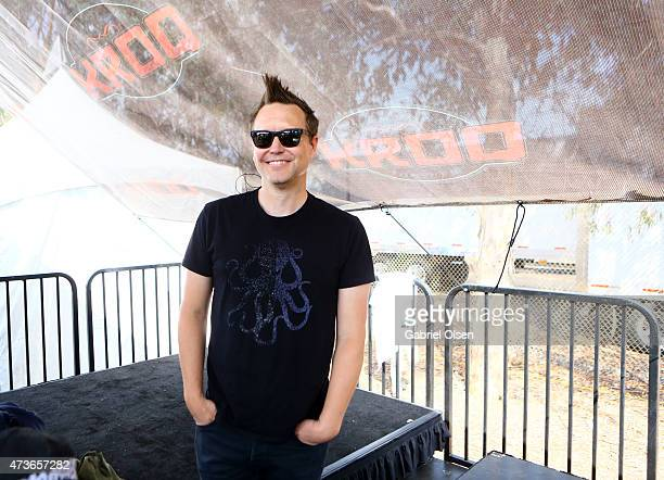 Musician Mark Hoppus of Blink-182 poses backstage at the KROQ Weenie Roast Y Fiesta 2015 at Irvine Meadows Amphitheatre on May 16, 2015 in Irvine,...