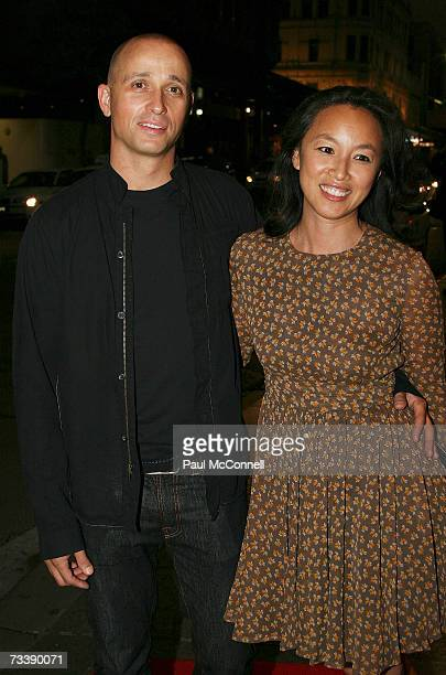 Musician Mark Lizotte and his wife arrive at the opening night of Matthew Bourne's Swan Lake at the Capitol Theatre on February 22 2007 in Sydney...
