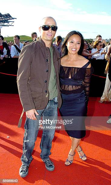 Musician Mark Lizotte and wife arrive at the 19th Annual ARIA Awards at the Sydney SuperDome on October 23 2005 in Sydney Australia The ARIA Awards...