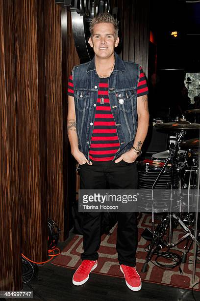 Musician Mark McGrath attends 'Sing For Your Supper' at Hard Rock Cafe Hollywood on April 15 2014 in Hollywood California