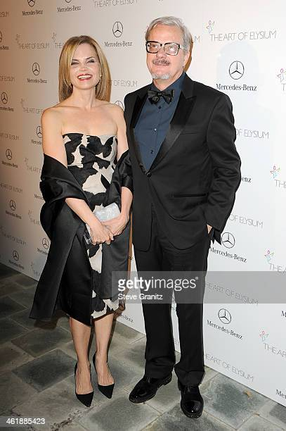 Musician Mark Mothersbaugh and wife Anita Greenspan arrive at The Art of Elysium's 7th Annual HEAVEN Gala presented by MercedesBenz at Skirball...