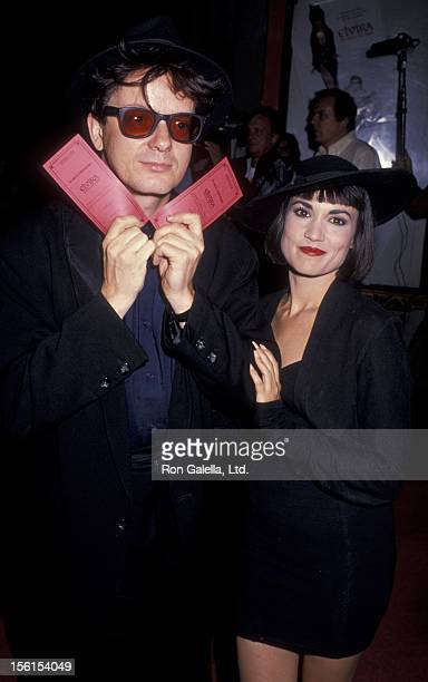 Musician Mark Mothersbaugh of Devo and wife attend the premiere of 'Elvira Mistress Of The Night' on September 27 1988 at Mann Chinese Theater in...