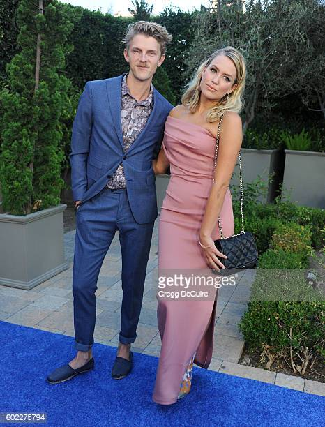 Musician Mark Pontius of Foster The People and girlfriend Caroline arrive at Mercy For Animals Hidden Heroes Gala 2016 at Vibiana on September 10,...